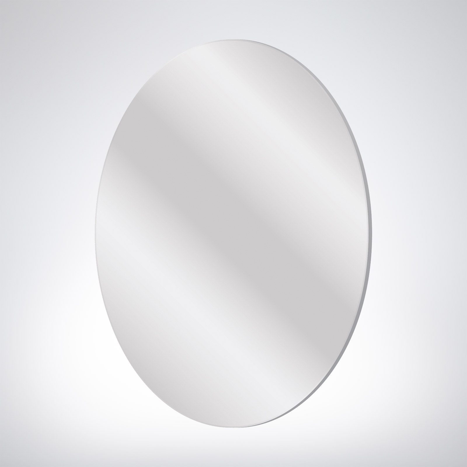 Flat Edge Mirror Oval 500x750x10mm