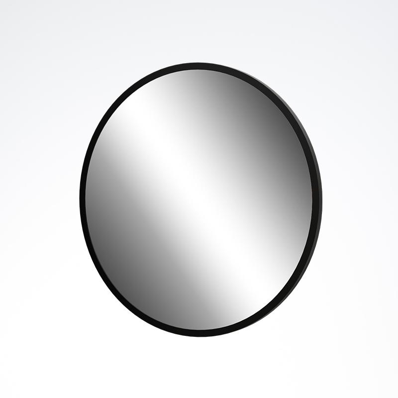 Black Framed Round Mirror 800x800x20mm