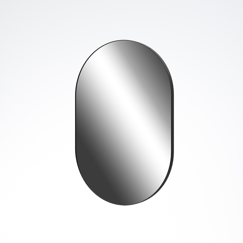 Black Framed Oblong Mirror 500x750x26mm