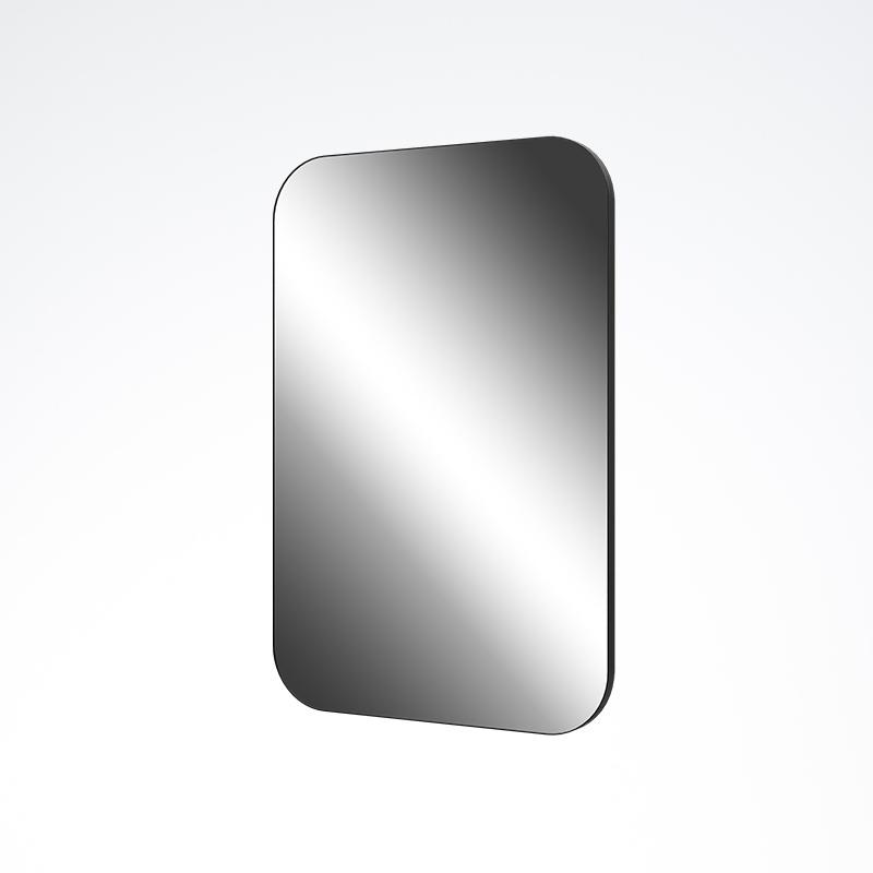 Black Framed Rounded Corner Mirror 600x900x23mm